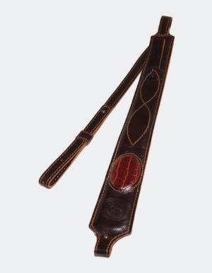 Ремень плечевой Люкс декорированый нат. кожа